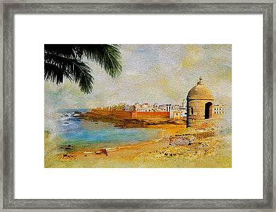Medina Of Tetouan Framed Print by Catf
