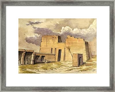 Medinet Temple Egypt Framed Print by Juan  Bosco