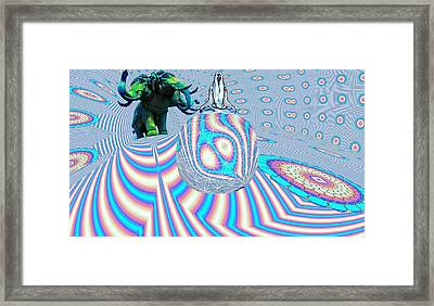 Meditating On Ganesh Framed Print by Jason Saunders
