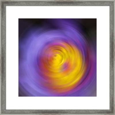 Meditation - Abstract Energy Art By Sharon Cummings Framed Print by Sharon Cummings