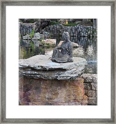 Meditation Garden 2 Framed Print by Ella Kaye Dickey