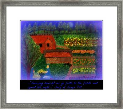Meditation Number 4 Song Of Songs Framed Print by Maryann  DAmico