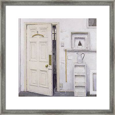 Meditation On A Door I Framed Print by Charles E Hardaker