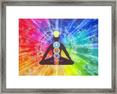 Meditation Framed Print by Shasta Eone