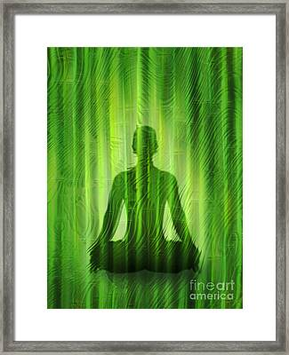 Meditation Waves Framed Print by Lutz Baar