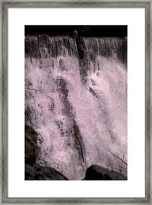 Meditative Otter Lake Waterfall  Framed Print by Betsy C Knapp