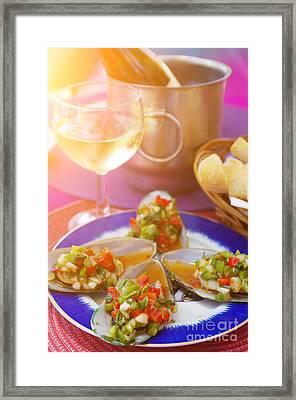 Mediterranean Appetizer Framed Print by Carlos Caetano