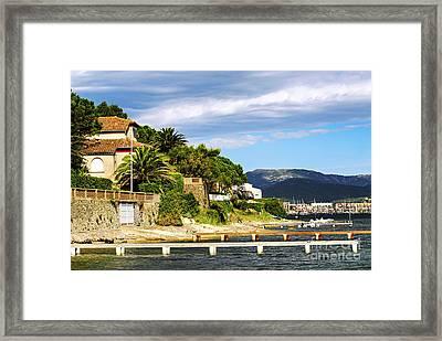 Mediterranean Coast Of French Riviera Framed Print by Elena Elisseeva
