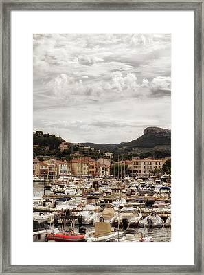 Mediterranean Coastal Town Of Cassis Framed Print by Georgia Fowler