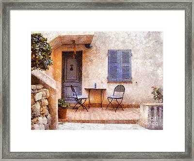 Mediterranean House Framed Print by Pixel  Chimp