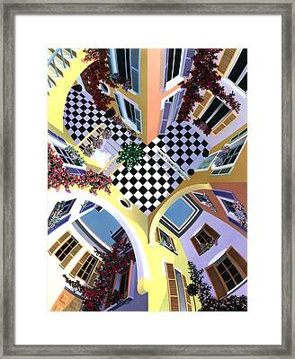 Mediterranean Illusion Framed Print by David Holmes