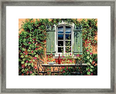 Mediterranean Memories - Oil Framed Print by Michael Swanson