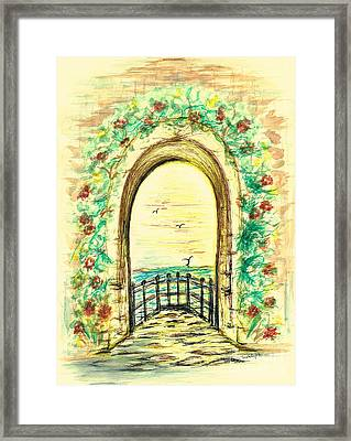 Mediterranean View Framed Print by Teresa White