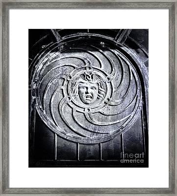 Medusa Black And White Framed Print by Colleen Kammerer