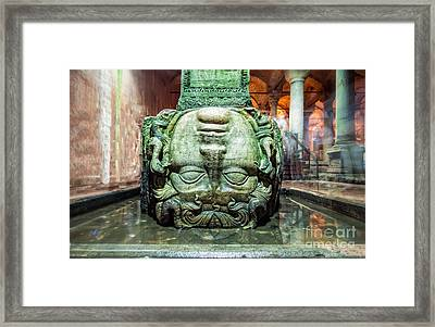 Medusa Head Framed Print by Anthony Festa