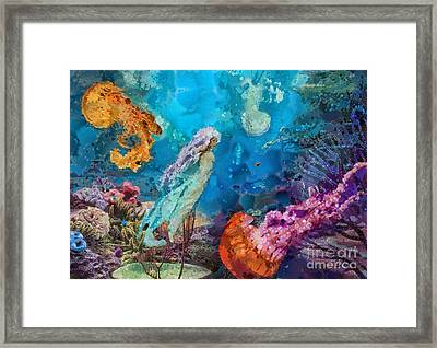 Medusa's Garden Framed Print by Mo T