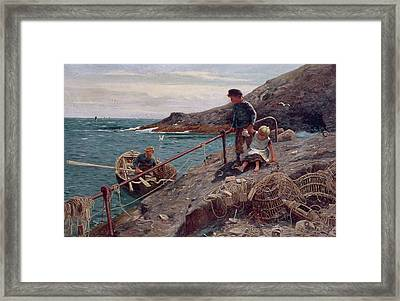Meeting Father Framed Print by Thomas James Lloyd