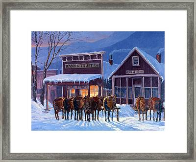 Meeting Of The Board Framed Print by Randy Follis