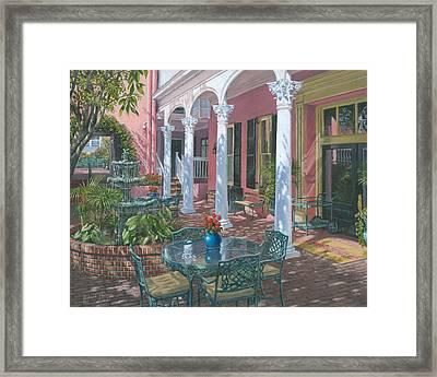 Meeting Street Inn Charleston Framed Print by Richard Harpum