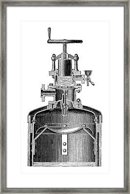 Mekarsky Compressed Air Engine Framed Print by Science Photo Library