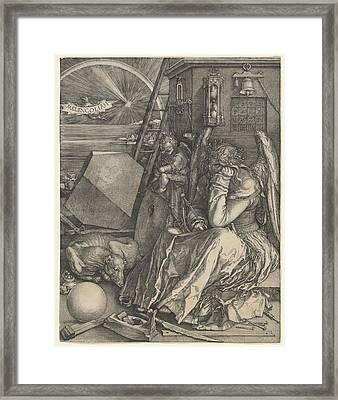Melancholia I Framed Print by Albrecht Durer