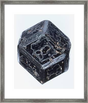 Melanite Andradite Garnet Crystal Framed Print by Dorling Kindersley/uig
