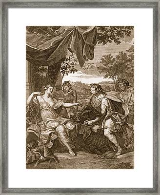 Meleager Presents The Boars Head Framed Print by Bernard Picart