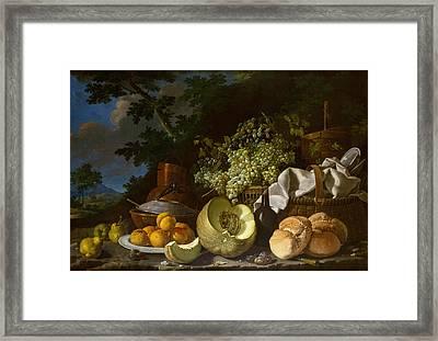 Melendez Still Life, C1771 Framed Print by Granger