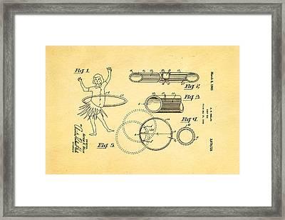 Melin Hula Hoop Patent Art 1963 Framed Print by Ian Monk