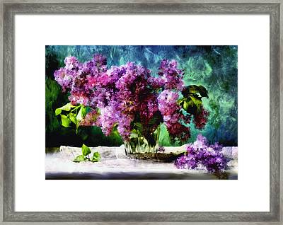 Melody Of Color - Impressionism Framed Print by Georgiana Romanovna