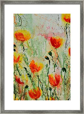 Melody Of Spring- Flower Framed Print by Ismeta Gruenwald