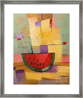 Melon Framed Print by Lutz Baar