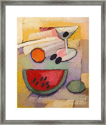 Melon Martini Framed Print by Lutz Baar