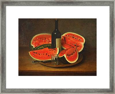 Melon Platter Framed Print by Mountain Dreams