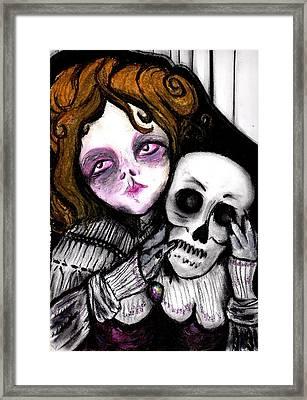 Meloncholy Framed Print by Rebecca Colon