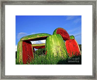 Melonhenge Framed Print by Joe Jake Pratt