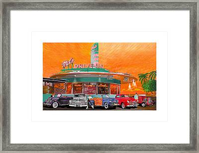 Mels Drive In San Francisco 2nd Gen Framed Print by Jack Pumphrey
