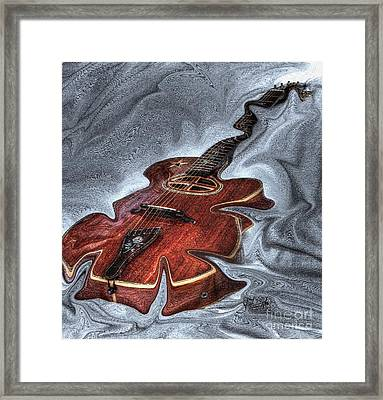 Melted Digital Guitar Art By Steven Langston Framed Print by Steven Lebron Langston