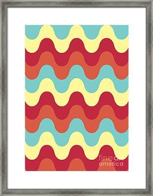 Melting Colors Pattern Framed Print by Freshinkstain