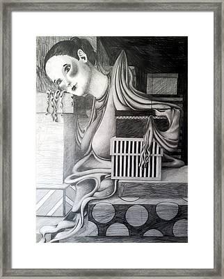Melting Girl Framed Print by Ava Dahm
