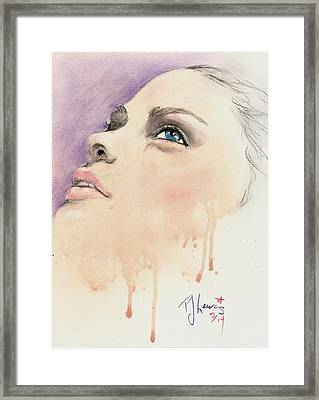 Melting Youthful Beauty Framed Print by P J Lewis