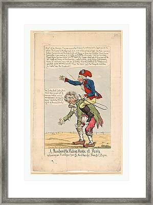 Member Of The Riding House At Paris, Delivering An Harangue Framed Print by Italian School