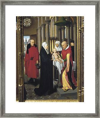 Memling, Hans 1433-1494. Triptych Framed Print by Everett