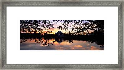 Memorial At The Waterfront, Jefferson Framed Print by Panoramic Images