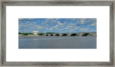 Memorial Bridge After The Storm Framed Print by Metro DC Photography