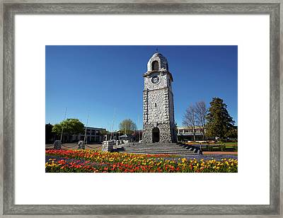 Memorial Clock Tower, Seymour Square Framed Print by David Wall