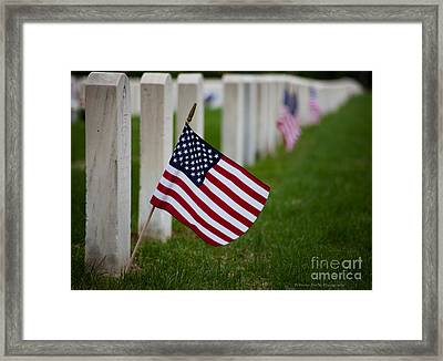 Memorial Day - Fort Snelling National Cemetery Framed Print by Wayne Moran