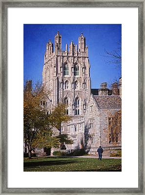 Memorial Quadrangle Yale University Framed Print by Joan Carroll