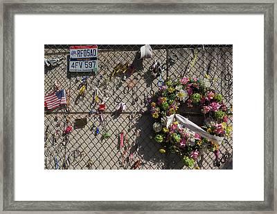 Memorial Wall At Oklahoma City National Framed Print by Panoramic Images