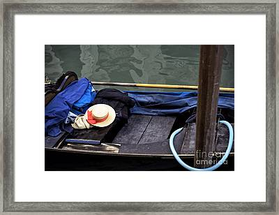 Memories Of A Gondola Ride Framed Print by John Rizzuto